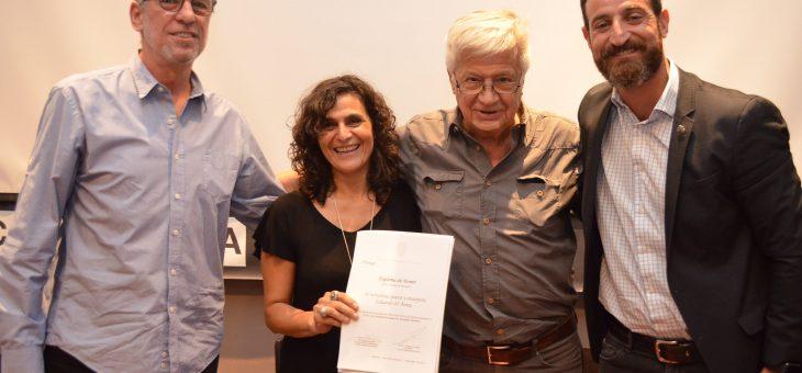 El escritor Eduardo D'Anna recibió un Diploma de Honor
