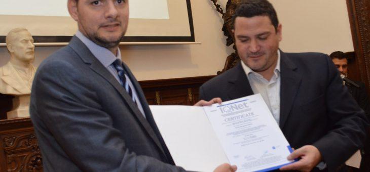 Entregaron al Concejo certificación del sistema de gestión de calidad