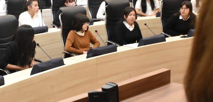 Alumnos de Aricana participaron de «Concejal por un Día»