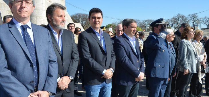 Asistieron concejales al acto por el Día de Rosario