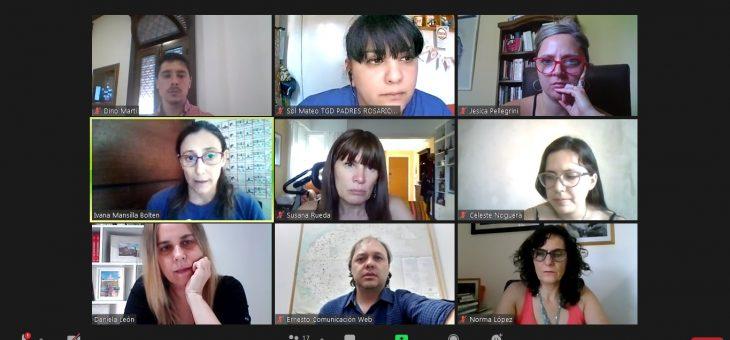Integrantes del grupo TGD Padres TEA Rosario en Derechos Humanos